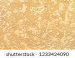 decorative plaster on the wall.   Shutterstock . vector #1233424090