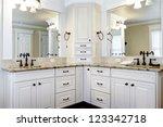 luxury large white master... | Shutterstock . vector #123342718