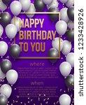 happy birthday vector... | Shutterstock .eps vector #1233428926