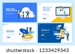 set of flat design web page... | Shutterstock .eps vector #1233429343
