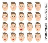 cartoon man. different facial... | Shutterstock .eps vector #1233429463