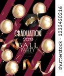 graduation party invitation... | Shutterstock .eps vector #1233430216