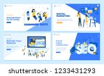 set of flat design web page... | Shutterstock .eps vector #1233431293
