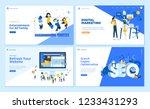 set of flat design web page... | Shutterstock .eps vector #1233431293