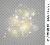 white sparks and golden stars... | Shutterstock .eps vector #1233431773