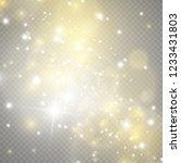 white sparks and golden stars... | Shutterstock .eps vector #1233431803