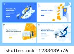 set of flat design web page... | Shutterstock .eps vector #1233439576