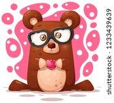 cute  funny bear illustration....   Shutterstock .eps vector #1233439639