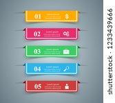 business infographics origami... | Shutterstock .eps vector #1233439666