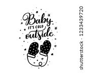 baby its cold outside christmas ... | Shutterstock .eps vector #1233439720