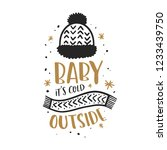 baby its cold outside christmas ... | Shutterstock .eps vector #1233439750