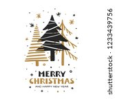 merry christmas and happy new...   Shutterstock .eps vector #1233439756