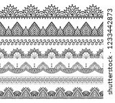 seamless lace borders set.... | Shutterstock .eps vector #1233442873