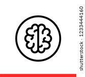 brain vector icon  knowledge...   Shutterstock .eps vector #1233444160