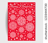 christmas card with mandala... | Shutterstock .eps vector #1233444730