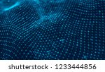 wave of particles. futuristic...   Shutterstock . vector #1233444856