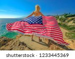 freedom and patriotic concept.... | Shutterstock . vector #1233445369