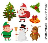 christmas element collection set | Shutterstock .eps vector #1233445939