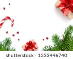 christmas composition.... | Shutterstock . vector #1233446740