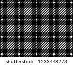 black and white gingham pattern ... | Shutterstock .eps vector #1233448273