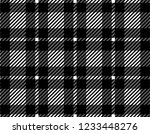 black and white gingham pattern ... | Shutterstock .eps vector #1233448276