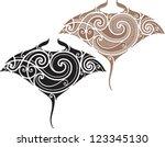 maori styled tattoo pattern in...   Shutterstock .eps vector #123345130