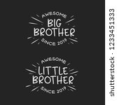 big brother little brother... | Shutterstock .eps vector #1233451333