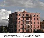 50's achitecture in beirut... | Shutterstock . vector #1233452506