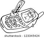 old mobile phone model is... | Shutterstock .eps vector #123345424