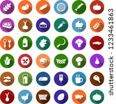 color back flat icon set  ... | Shutterstock .eps vector #1233461863