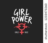 girl power feminist slogan... | Shutterstock .eps vector #1233473260