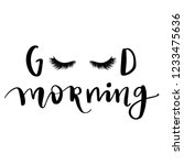 good morning. hand sketched... | Shutterstock .eps vector #1233475636