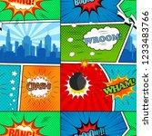 comic book seamless pattern... | Shutterstock .eps vector #1233483766