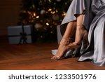 elegant sexyfemale legs in... | Shutterstock . vector #1233501976