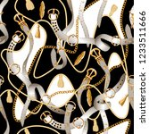 seamless pattern with belts ... | Shutterstock .eps vector #1233511666