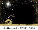 elegant christmas nativity... | Shutterstock . vector #1233516406