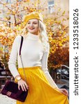 happy smiling fashionable woman ... | Shutterstock . vector #1233518026
