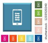 mobile fine tune white icons on ... | Shutterstock .eps vector #1233520240