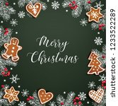 merry christmas greeting card ... | Shutterstock .eps vector #1233522289