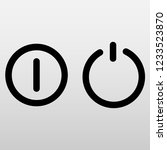 turn on and off. vector symbols | Shutterstock .eps vector #1233523870