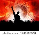 silhouette of dancing people | Shutterstock . vector #1233530560
