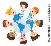 vector illustration of kids... | Shutterstock .eps vector #1233532999