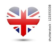 Great Britain Flag On Heart...