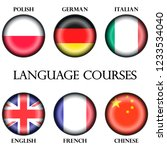 foreign language courses... | Shutterstock .eps vector #1233534040
