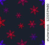 snowflakes seamless pattern....   Shutterstock .eps vector #1233539680