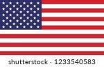 american flag vector | Shutterstock .eps vector #1233540583