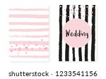 bridal shower card with dots... | Shutterstock .eps vector #1233541156