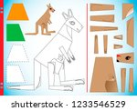 geometric shapes in pictures... | Shutterstock .eps vector #1233546529