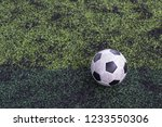 old classic ball  football on... | Shutterstock . vector #1233550306