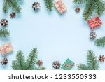 christmas composition. frame... | Shutterstock . vector #1233550933